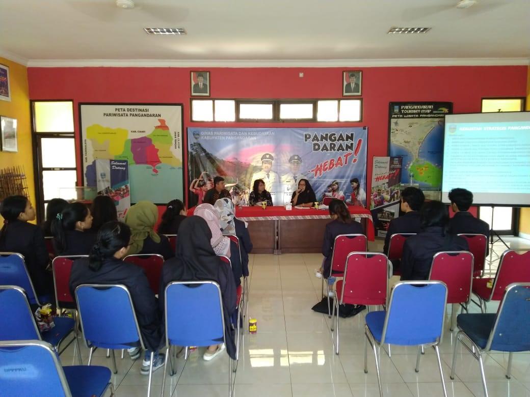 Kuliah Lapangan Ke Kantor Dinas Pariwisata Kabupaten Pangandaran