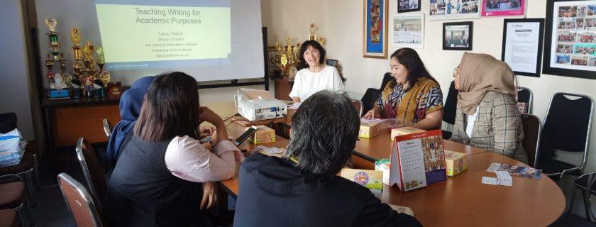 Pertemuan Fakultas Bahasa dengan pihak IBEC (Indonesia British Education Centre)