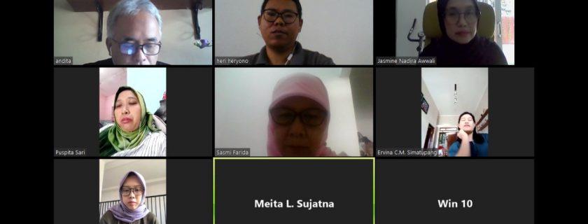 Rapat Online bersama Prodi Bahasa Inggris menggunakan Aplikasi Zoom Meeting