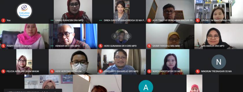 Rapat Rutin Fakultas Bahasa Oktober 2020
